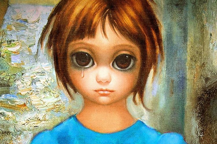 Personagens com olhos grandes são a marca das pinturas de Margaret Keane