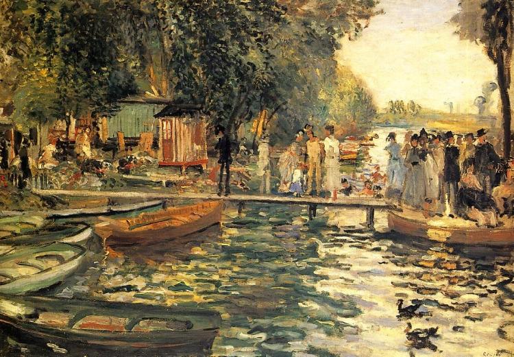 'La Grenouillere' (1869), de Pierre-Auguste Renoir