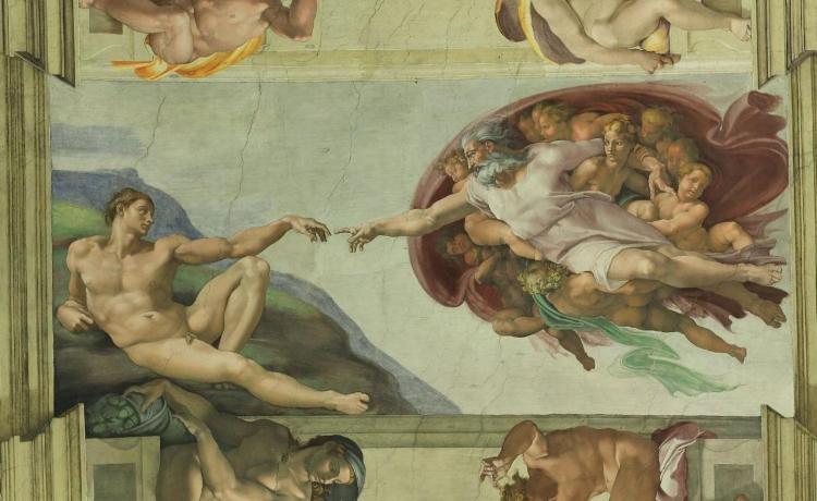 'Criação de Adão' (1510), de Michelangelo