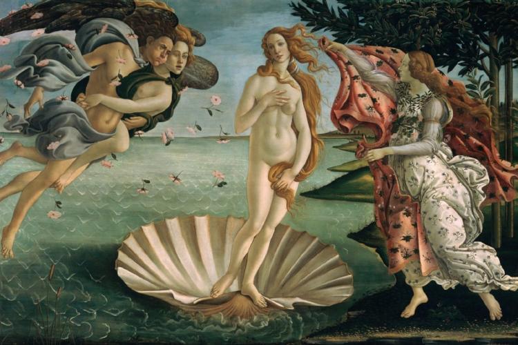 'O Nascimento de Vênus' (1485), de Sandro Botticelli