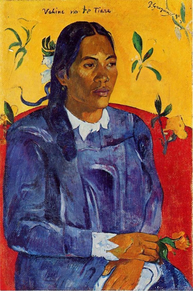 'Mulher com uma Flor' (1891), de Paul Gauguin