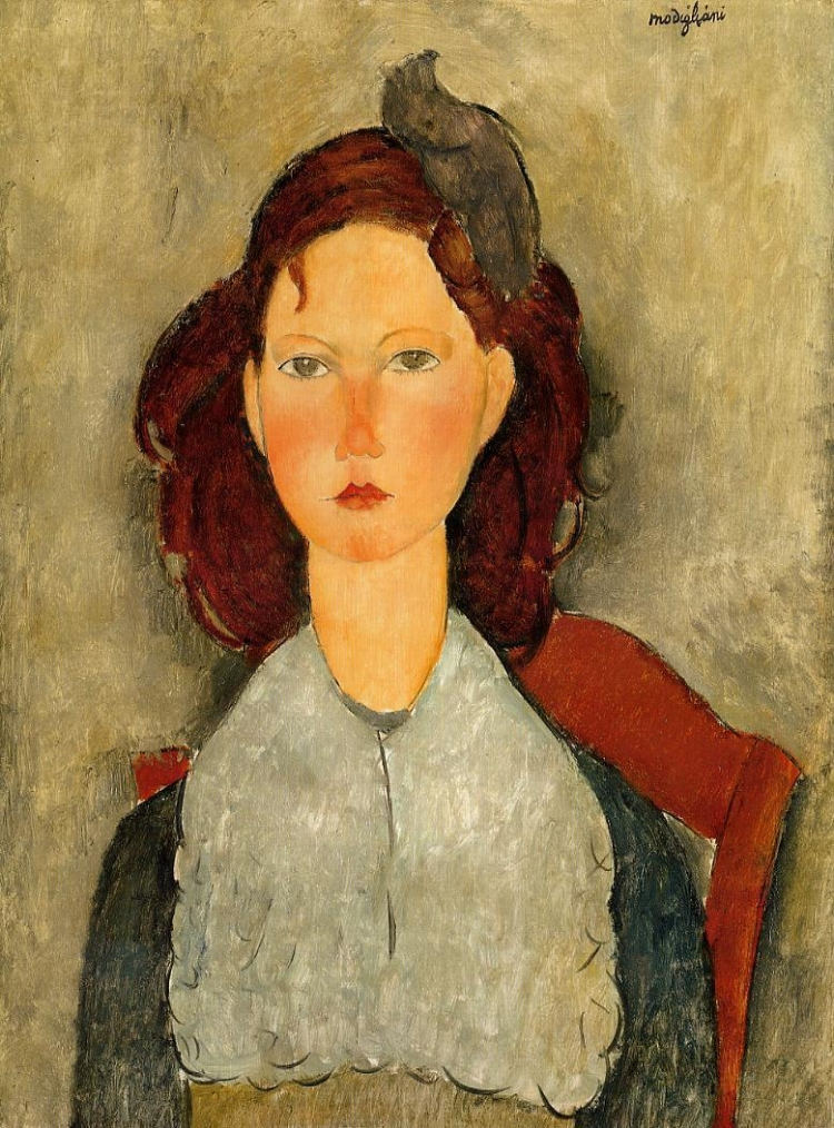 'Jovem Garota Sentada' (1918), de Amedeo Modigliani