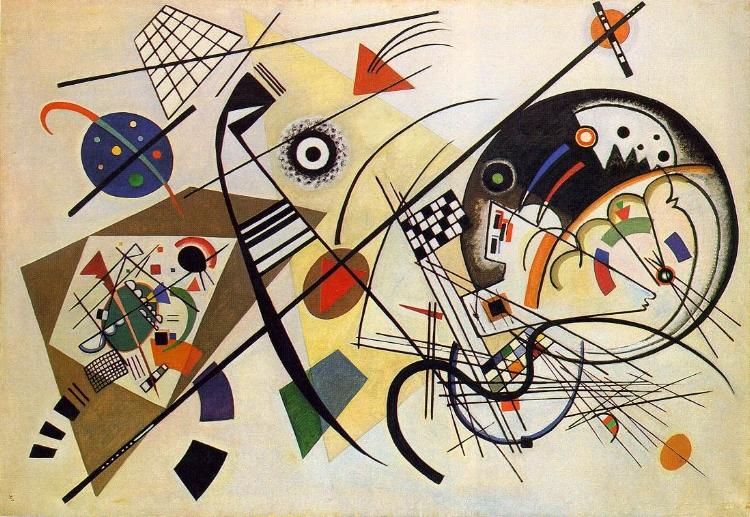'Linha Transversal' (1923), de Wassily Kandinsky