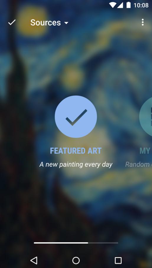 O usuário também pode usar suas próprias imagens para montar uma galeria