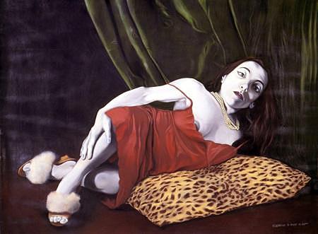 Nesta série o artista representou figuras marginalizadas em situações aparentemente incomuns