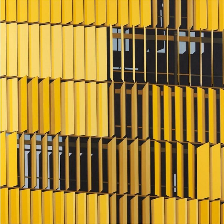 Obra sem título, de 2014, reproduz as brise-soleils do prédio anexo da Câmara dos Deputados, em Brasília-DF