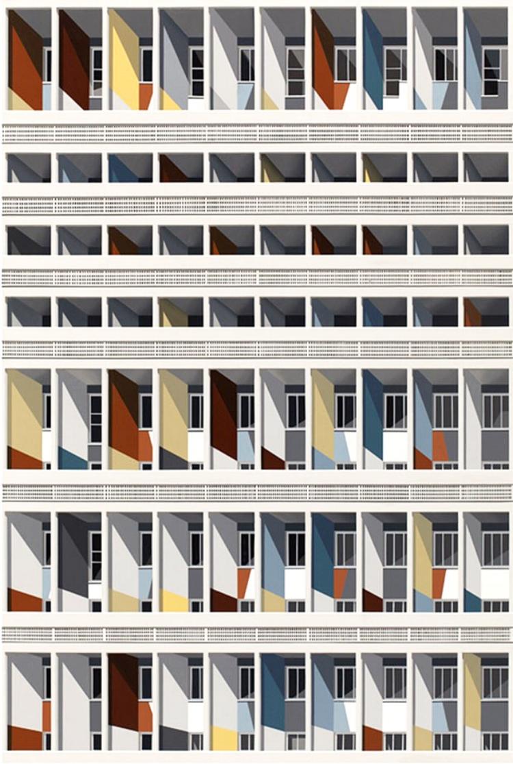 'Unite d'Habitation'  (2015), acrílica sobre tela