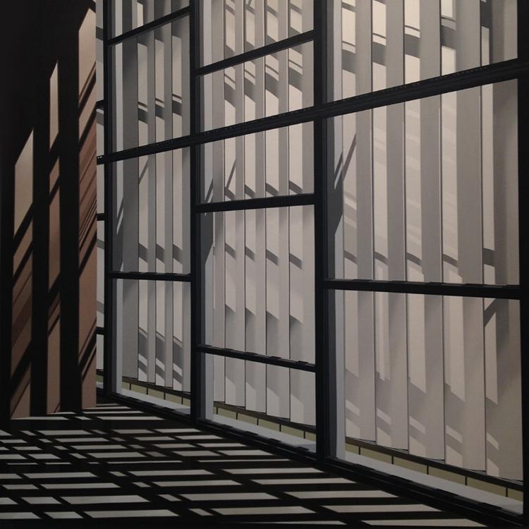 O efeito de luz e sombra é um dos elementos que mais chamam a atenção na atual produção do artista