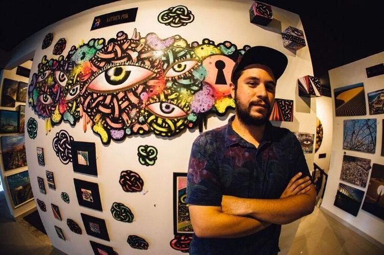 Kéfren Pok é o grafiteiro por trás dos olhos que tomaram conta das ruas de Natal