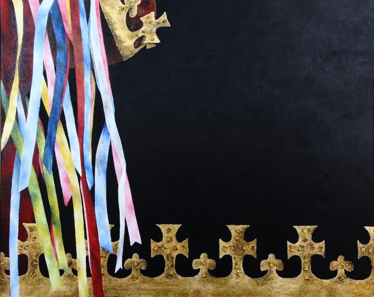 'Reverência' , pintura sobre tela de Regina Moraes
