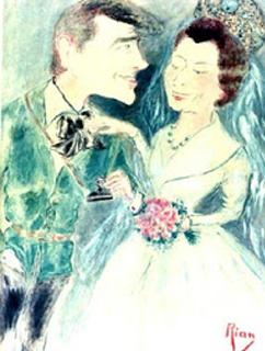 O casamento da princesa Margareth, da Inglaterra