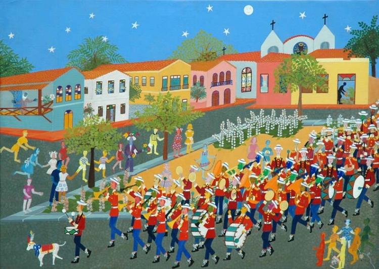 'A Banda'  (1967), óleo sobre tela da piauiense Elisa Martins da Silveira