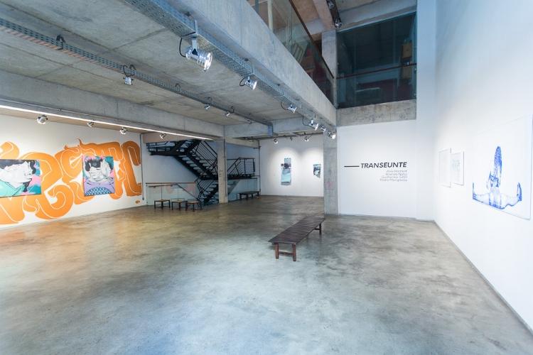 Visão geral da exposição  'Transeunte',  na galeria RV Cultura e Arte