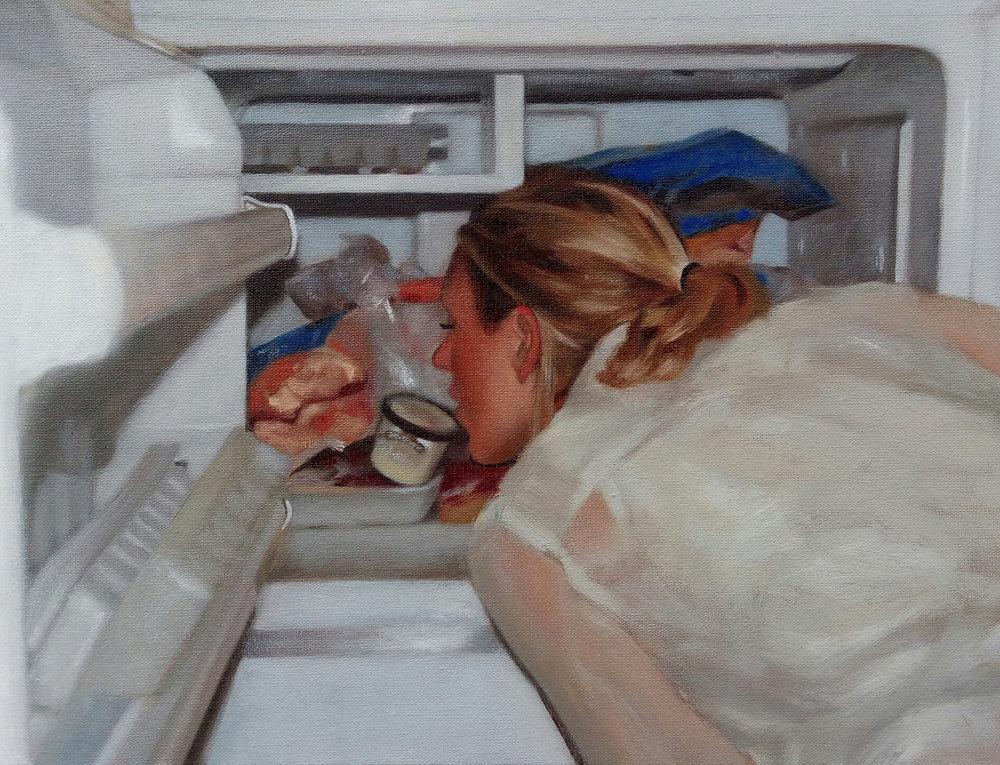 As pinturas da série  'Exercício para se procurar a liberdade em um outro território' (óleo sobre tela, 2017) , de Caio Pacela, também fizeram parte da 9ª edição do Salão