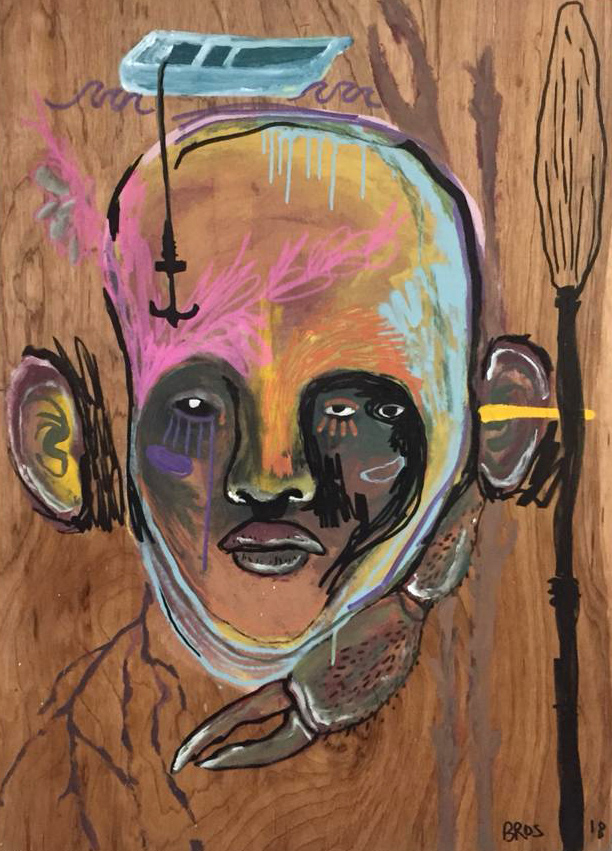 Obras dos artistas feitas especialmente para a exposição