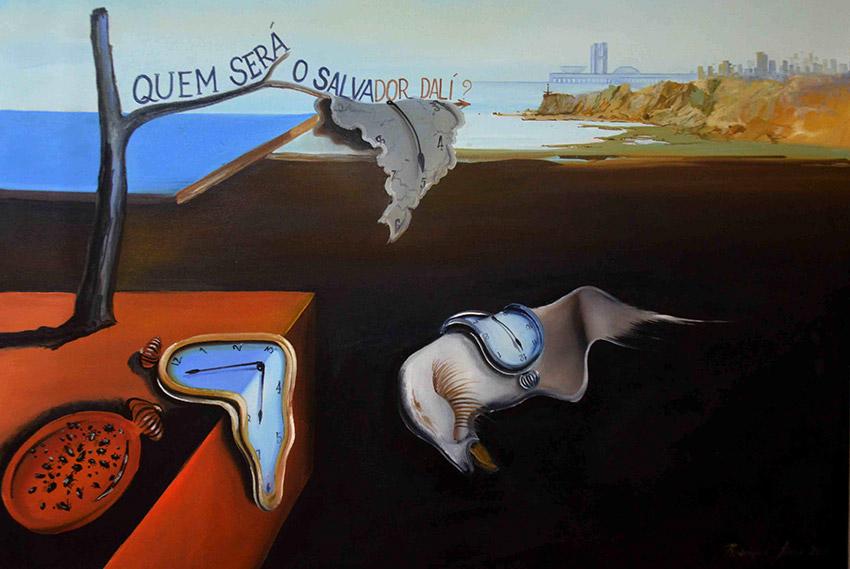 'Quem será o Salvador Dalí' , óleo sobre tela de Rodrigues Lima