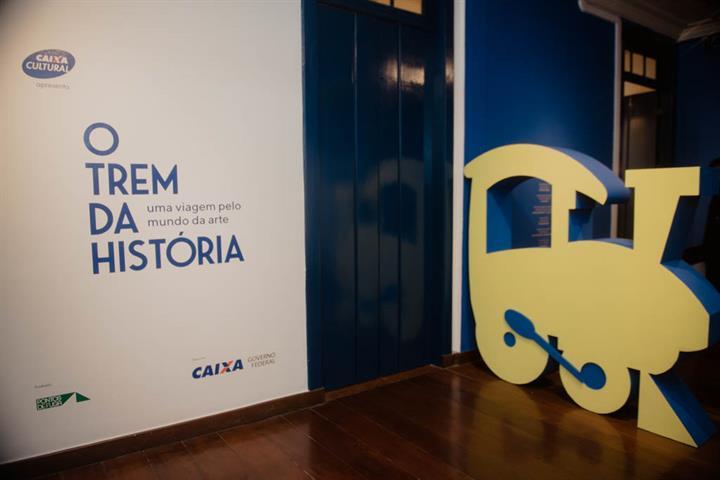 'O Trem da História'  propõe uma viagem imaginária pelos diferentes períodos da história da arte