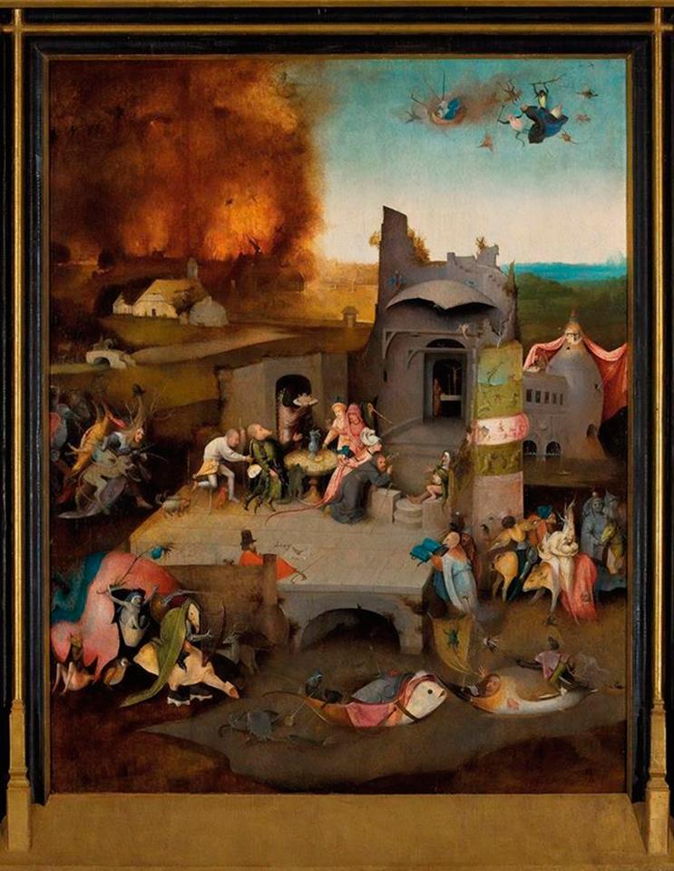 Reprodução de uma pintura de Bosch