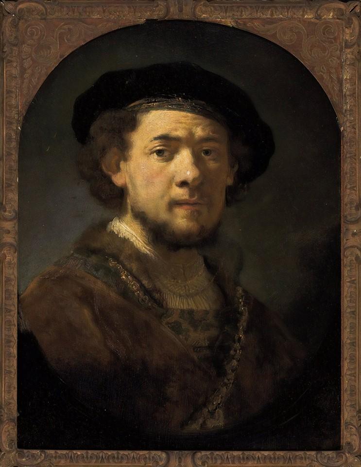 Reprodução de uma pintura de Rembrandt