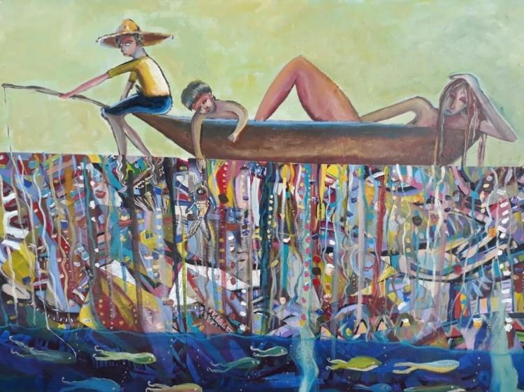Nesta exposição, as pintura de Avelar Amorim trazem crianças e diferentes maneiras de se entender o sentido da palavra erê