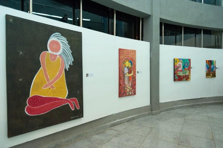 A exposição recebeu 40 artistas ao todo