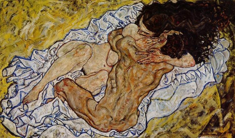 Egon Schiele O Abraço