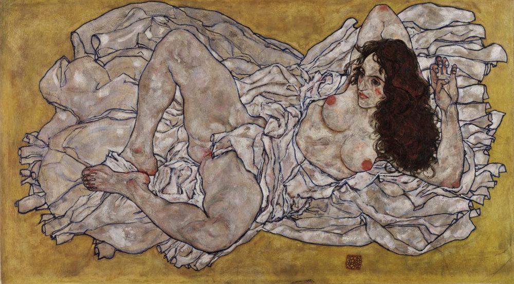 Egon Schiele Reclining Woman 1917