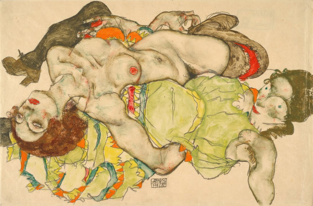 Egon Schiele Female Lovers, 1915
