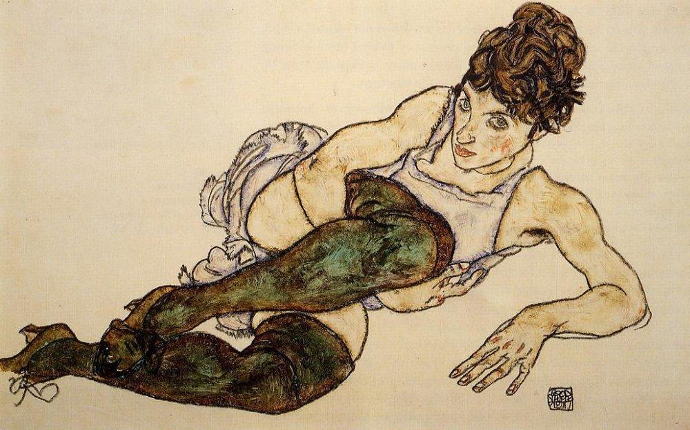 Egon Schiele reclining woman