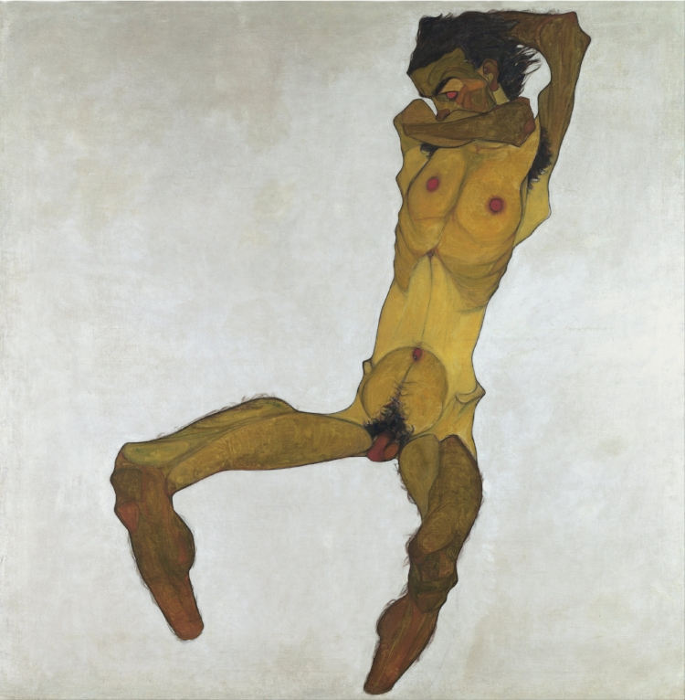 13 - Seated Male Nude (Self-Portrait).jpg