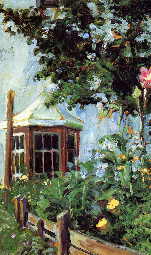 Egon Schiele - House with a Bay Window in the Garden 1907 - Impressionismo