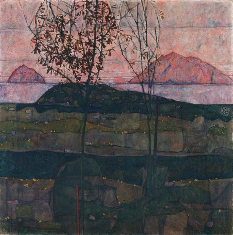 Egon Schiele - Setting Sun 1913