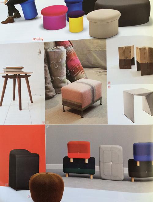 Otto G ottoman for Goldfinch Blankets. Interior Design Spring Market Tabloid 2016.