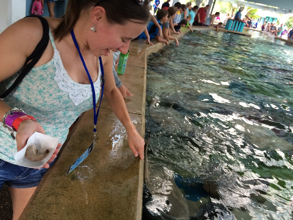 Jess getting a High Fin from the Stingray - PHOTO CREDIT: ASHLIE ANCTIL