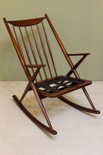 1948 Bramin Brahmin Style Rocker Rocking Chair Mid Century Modern Vintage  Danish Furniture Walnut_03