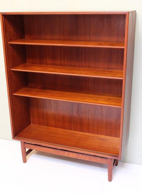 povel dinesen teak bookcase with sliding glass doors vintage mid century modern danish furniture07