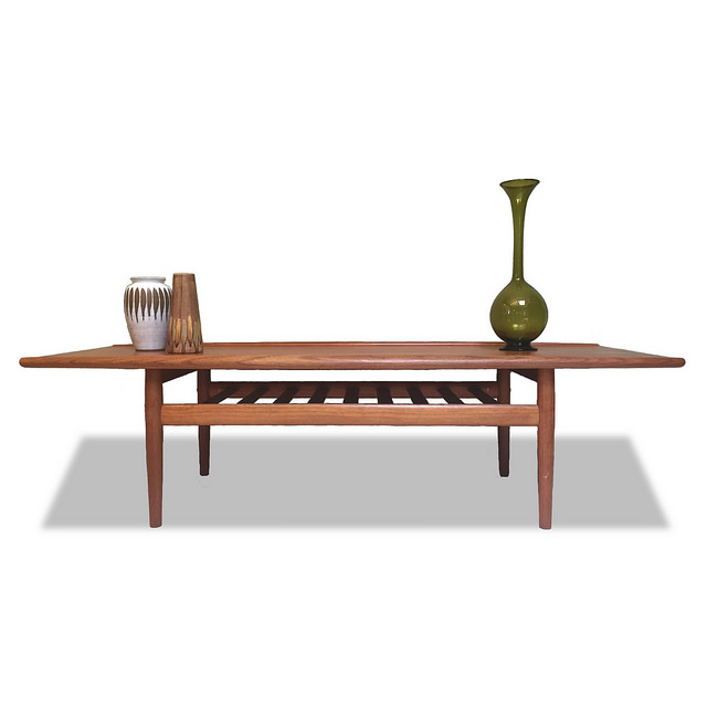 2105 Grete Jalk Coffee Table Teak Mid Century Modern Vintage Living Room  Furniture_01