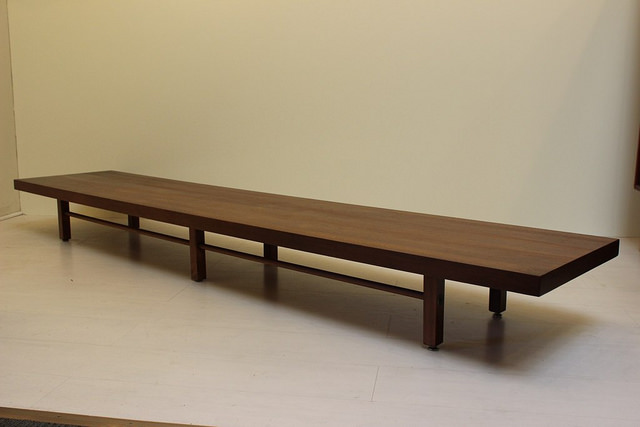 Exceptional 2024 Milo Baughman Coffee Table Long Low Walnut Mid Century Modern Vintage  Furniture_02