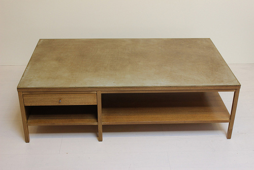Paul Mccobb Coffee Table By Calvin Irwin Collection Leather Top Wood Side Table Square Rectangular 04