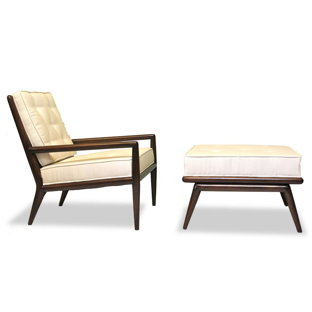 1932 Robsjohn Gibbings Chair Ottoman