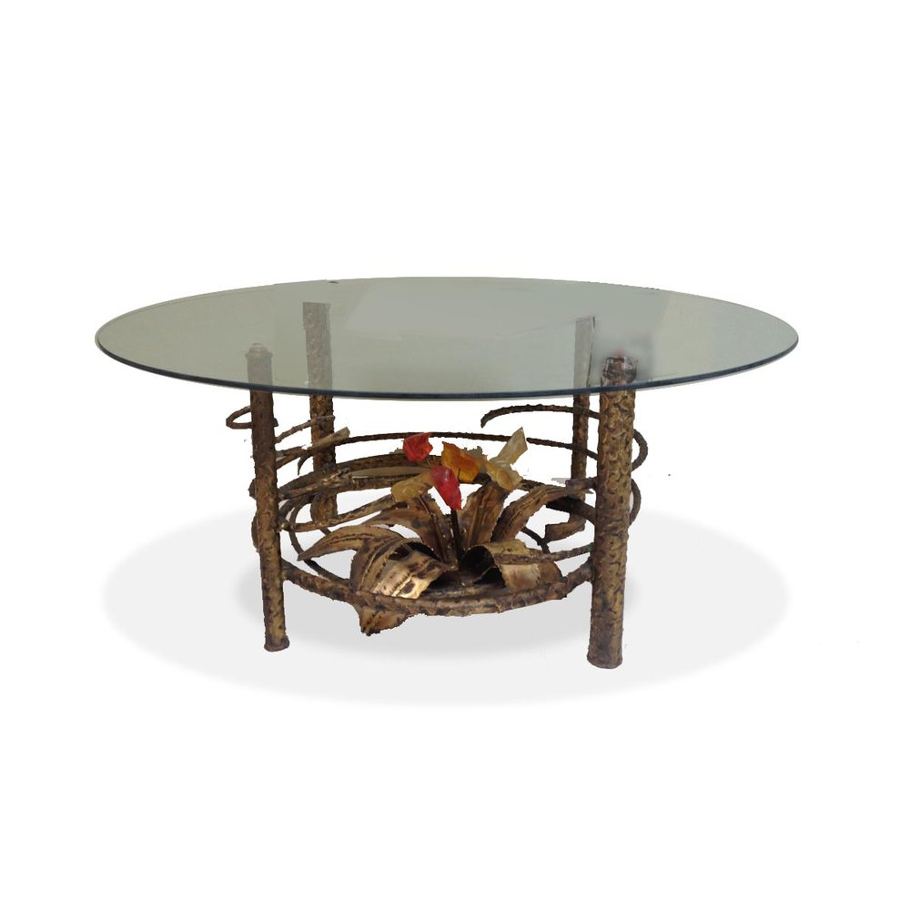 Bronze and Lucite Coffee Table dejavu ATOMIC PAD