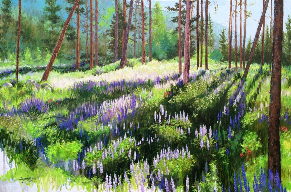 Early Mornin Lupines - Keystone -  Oil