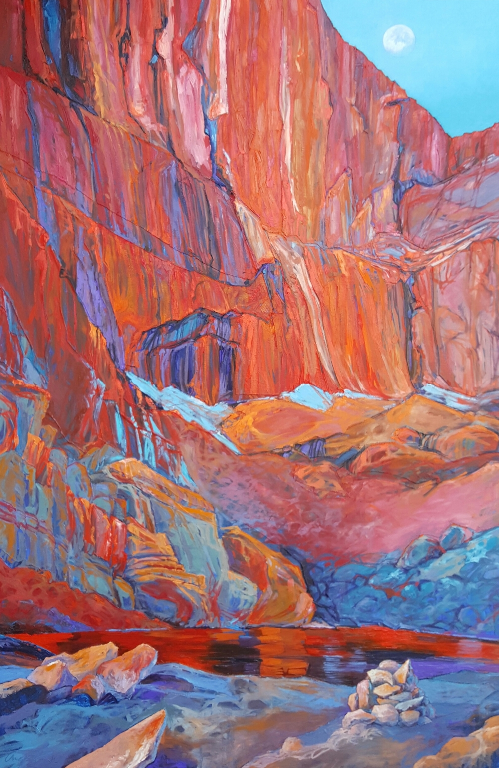 Cairn at Long's Chasm Lake - Oil - 48x73 inches
