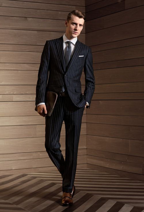 The pinstripe suit synonymous with bankers is experienceing a rennaissance. Everyone from the Wall Street powerhouse to the Brooklyn graphic design wiz can adopt this suit. Style-wise, vertical stripes can work on a variety of people since the lines create a slimming effect. But for taller people for example, the stripes can end up making you look longer and lankier than usual, perhaps negatively changing the silhouette. For slimmer builds, it can make you look too slim. It should also be noted that mid to closer stripes are more fashionable right now versus wider stripes.