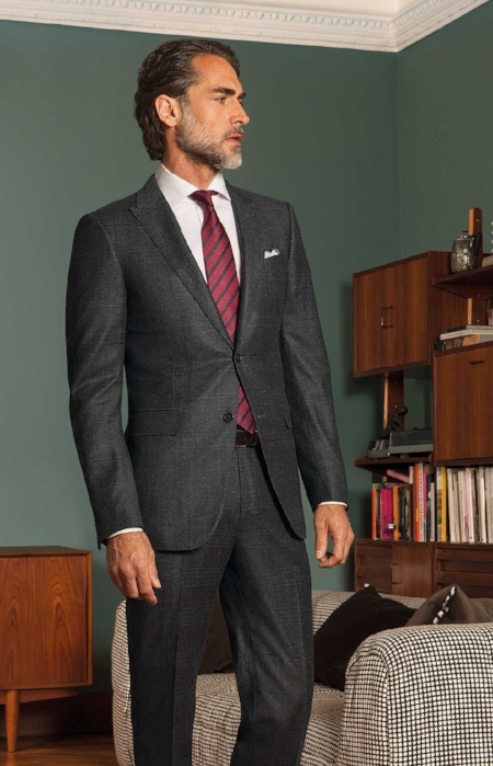 2. The Subtle Grey Check Suit