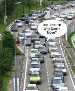个人看板交通堵塞