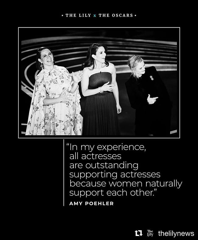 "So many AMAZING moments at @theacademy Oscars this year — 🙌🏼 @iamreginaking and #hannahbeachler 🙌🏼. We're just an hour in but this is still one of our favorites. What are yours?  #Repost @thelilynews with @get_repost ・・・ Maya Rudolph, Tina Fey and Amy Poehler took to the Oscars stage early on in the night to present the award for best supporting actress. Before they announced the nominees, the comedians joked about some of the controversies leading up to the Academy Awards, including the fact that the show is lacking a host this year. Then, they talked about the award at hand. ""In my experience, all actresses are outstanding supporting actresses because women naturally support each other,"" Poehler said. Regina King, who hadn't been nominated for an Oscar before, won the award for her role in ""If Beale Street Could Talk."" (photo by @gettyimages)"