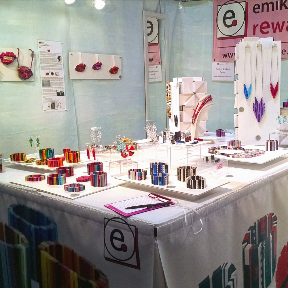 emiko o reware booth at Smithsonian Craft Show 2015