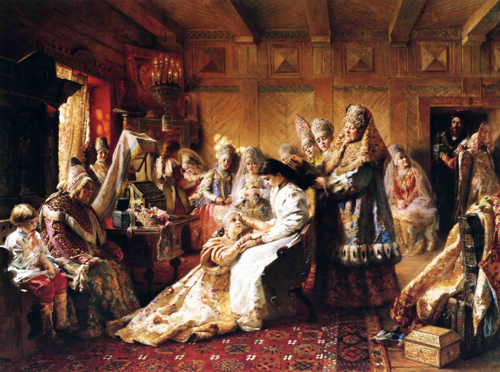 The Russian's Bride Attire , Konstantin Makovsky, 1889.