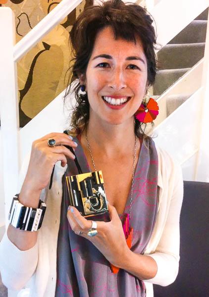 emiko holding Nevelson pendant